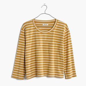 🆕 Listing! Striped tee in linden marigold stripe